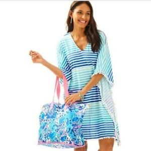 Lilly Pulitzer beach cover-up Tradewind caftan